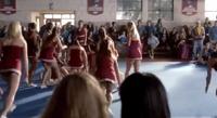 Cheerleaders came to help Caroline after her crash
