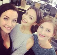 2015-10-15 Scarlett Byrne Elizabeth Blackmore Annie Wersching Instagram