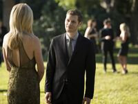 Klaus & Caroline at the Miss Mystic Falls Pageant