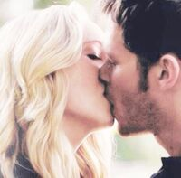 Klaus and Caroline kiss