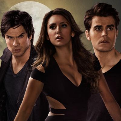 Stefan, Elena, and Damon