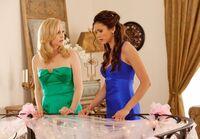 Caroline and Elena Looking Down