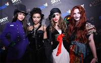 Nina, kat, kayla, and sara.