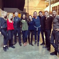 12-09-2017 Riley Voelkel Claire Holt Daniel Gillies Christina Moses Danielle Rose Russell Nathaniel Buzolic Joseph Morgan Charles Michael Davis-Sebastian Roché-Instagram