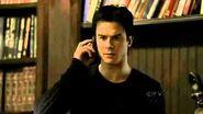 "TVD 1X20 Damon talks with Alaric then Elena on the phone ""Stefan likes puppy blood"""
