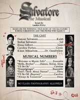 3x03 Salvatore The Musical-Casting Poster
