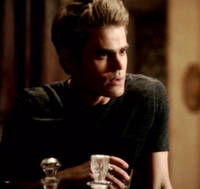 Stefan back at his house