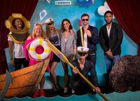 07-22-2017 WBSDCC Boat Charles Michael Davis-Julie Plec-Riley Voelkel-Phoebe Tonkin-Joseph Morgan-Daniel Gillies-Yusuf Gatewood