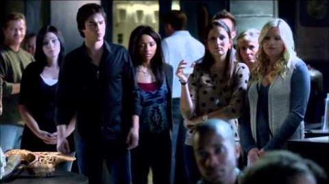 The Vampire Diaries 4x06 - Damon and Bonnie come to Professor Shane's lecture