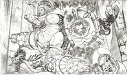 Ryan Benjamin VHD Message from mars comic number 2 black and white preview vhd-comic-enemies-pencil