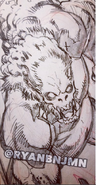 Ryan Benjamin VHD Message from mars comic number 2 black and white preview vhd-comic-fight-pencil 3
