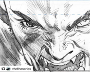 Ryan Benjamin VHD Message from mars comic number 2 black and white preview vhd-comic-fight-pencil 2