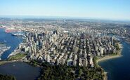 Vancouver skyline aerial