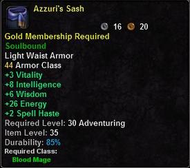 Azurri's Sash