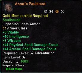 Azzuri's Pauldroms