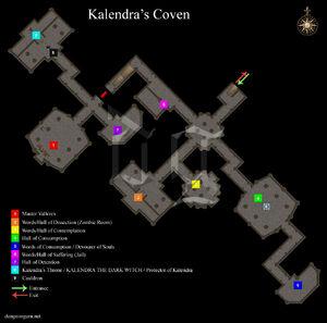 Kalendra's Coven Layout Map