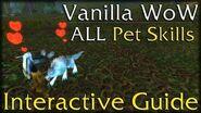 Vanilla WoW - All Hunter Pet Skills - Interactive Guide