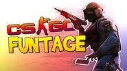 CS GO FUNTAGE! - Flashbang Kill, SP00N Show & Bless UP! (CS GO Funny Moments)