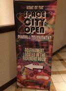Pinball tournament sign