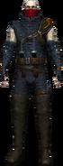 People Salamandra masked warrior