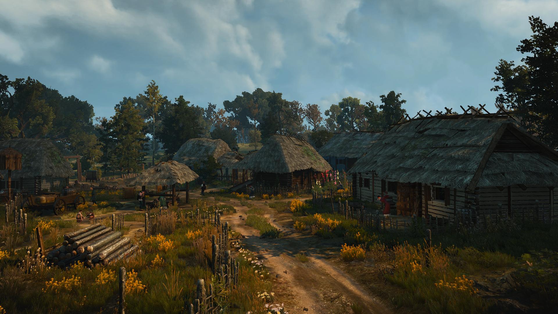 Деревня Подлесье