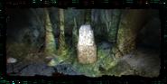 Камень путника в пещере с Лу