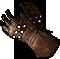 Длинные перчатки из клепаной кожи
