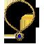 Золотое ожерелье с сапфиром