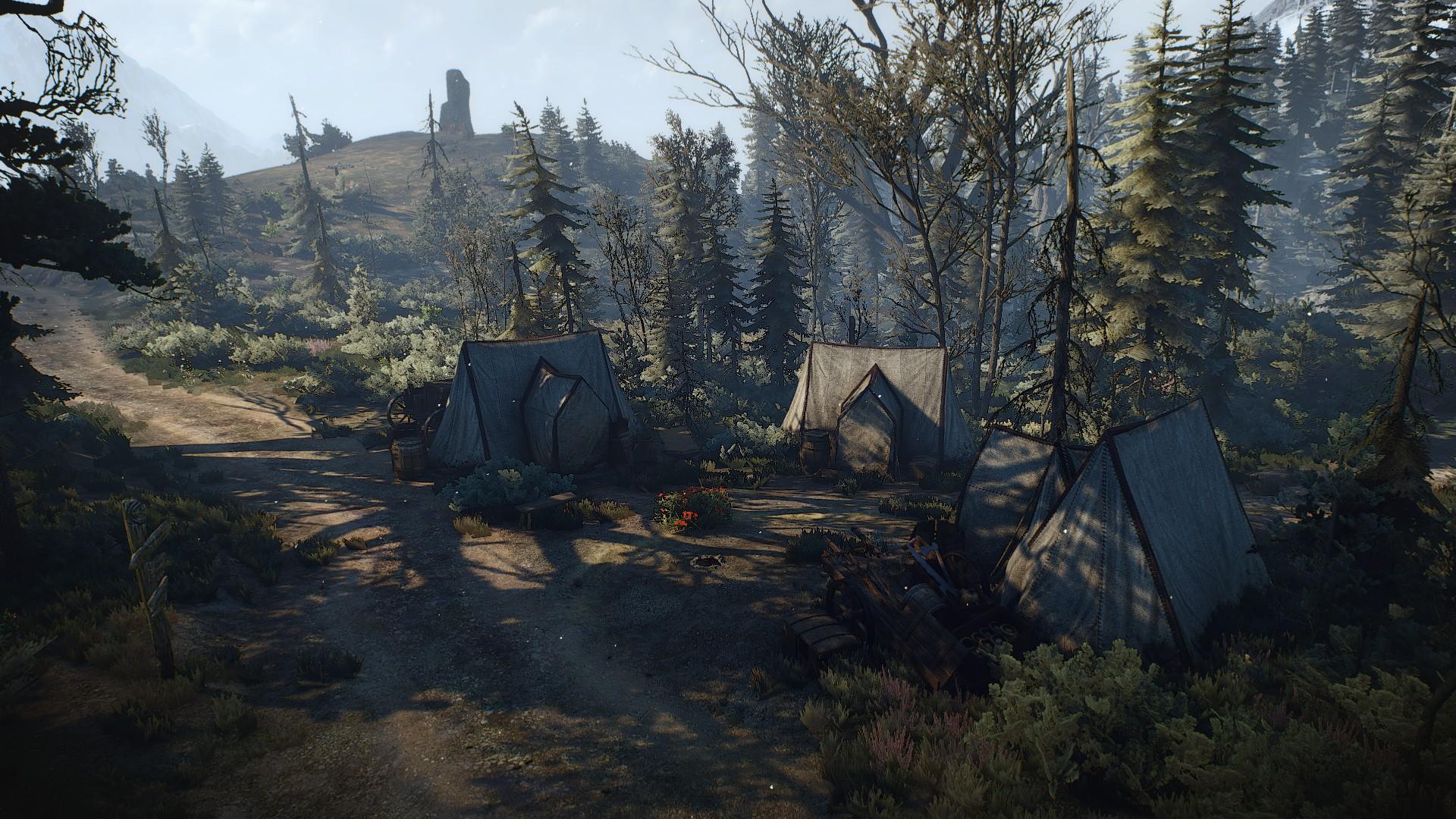 Лагерь горняков