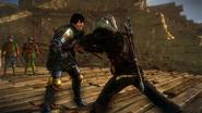 Геральт убивает ариана