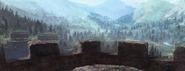 Kaer Morhen - widok z murów warowni