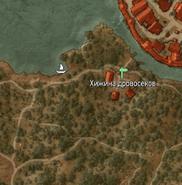 Хижина дровосеков на карте