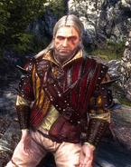 Аэдирнская кожанная куртка, вид на ведьмакеВ2
