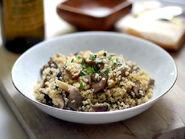 Mushroom-quinoa-risotto-bowl
