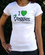 Tshirt - heart veggie