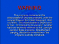 2001 FBI Warning