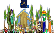 VeggieTales Christmas Pageant Morn Savior Born Manger The Stable that Bob Built Nativity Scene St Barts