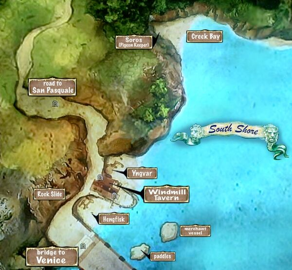 Map of South Shore