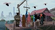 Gathered Guild members at Rat Island