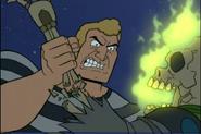 Brock breaks Major Tom's arm