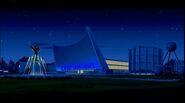 Venture Compound entrance - night
