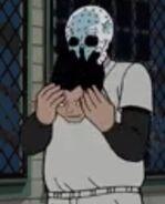 Skull Head Rips Off His Facce