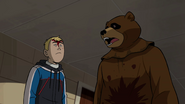 Scare Bear and Hank in medium