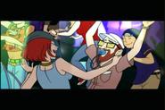 Skye dances with Dr. Venture