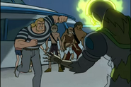 Brock about to punch Major Tom