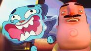 CAN THEY BE KILLED!? - Gmod Gumball Hello Neighbor Scary Mod