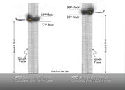 World Trade Center 9-11 Attacks Illustration with Vertical Impact Locations.jpg