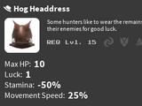 Hog Headdress