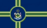Maine State Flag Proposal No 11 Designed By Stephen Richard Barlow 27 OCT 2014 at 1421hrs cst