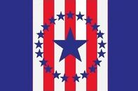 Alabama State Flag Proposal 22 Star Medallion Pattern Designed By Stephen Richard Barlow 29 July 2014
